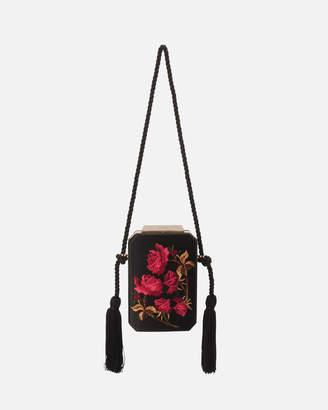 Olga Berg Eve Embroidered Shoulder Bag