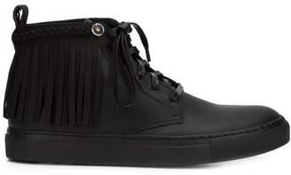 Valas fringed hi-top sneakers