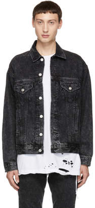 Roxy Adaptation Black Distressed Denim Jacket