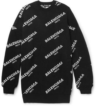 Balenciaga Oversized Intarsia Wool-Blend Sweater $995 thestylecure.com