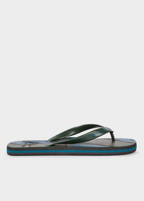 Paul Smith Men's Khaki Camouflage 'Dale' Flip Flops