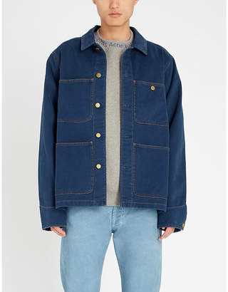 Acne Studios Pocket-embellished denim overshirt