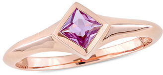 Rina Limor Fine Jewelry 10K Rose Gold 0.45 Ct. Tw. Pink Sapphire Solitaire Ring