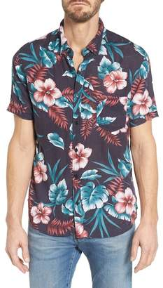 Rails Carson Slim Fit Tropical Print Sport Shirt