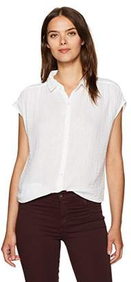 Three Dots Women's S/s Button Up