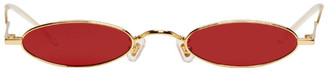 Gentle Monster Gold and Red Vector Sunglasses