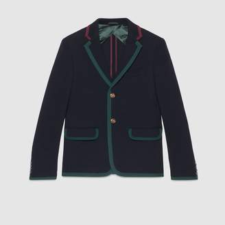 Gucci Cambridge textured jersey jacket