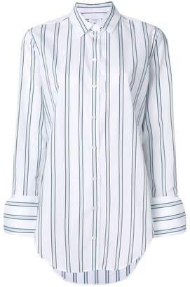 Equipment striped long-line shirt