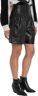 Alberta Ferretti Leather Shorts With High Waist