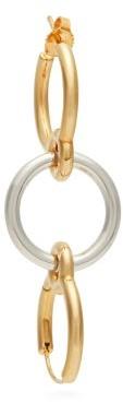 Charlotte Chesnais Three Lovers 18kt Gold Single Earring - Womens - Silver Gold