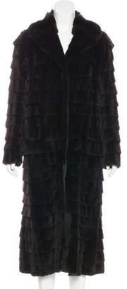 Louis Vuitton Tiered Fur Coat