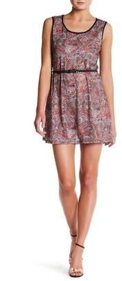 Papillon Paisley Waist Belt Dress