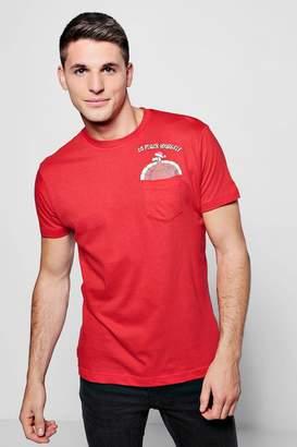 boohoo Christmas Turkey Pocket T-Shirt