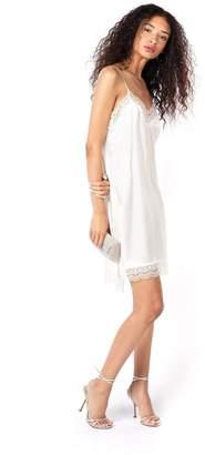 Miguelina Charlotte Scalloped Lace Silk Slip Dress - Ivory
