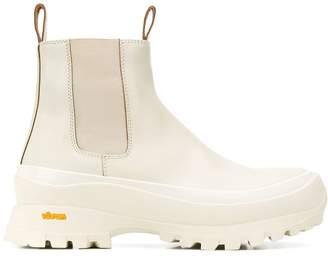 Jil Sander round slip-on boots