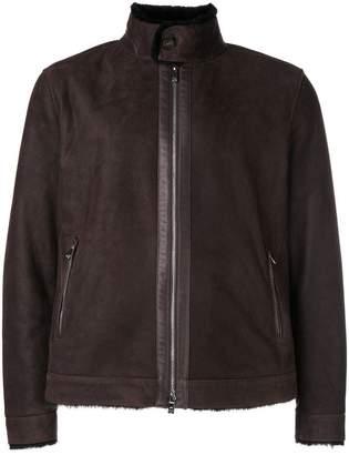 Corneliani lined leather jacket