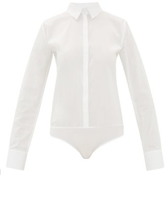 Wolford London Effect Cotton Blend Bodysuit - Womens - White