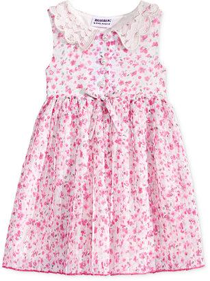 Blueberi Boulevard Floral-Print Lace-Collar Dress, Baby Girls $34 thestylecure.com