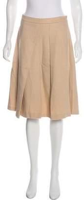 Max Mara Camel A-Line Skirt