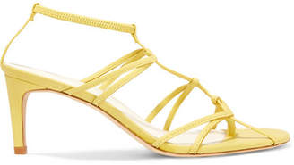Tibi Gavin Leather Sandals - Yellow