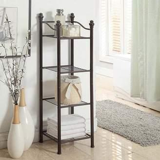 Organize It All Belgium 4-Tier Bathroom Floor Shelf Storage Tower