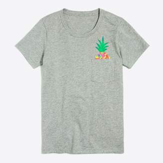 J.Crew Factory Pineapple pocket T-shirt