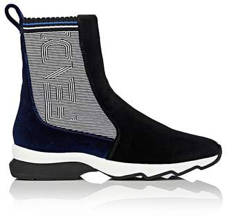 Fendi Women's Velvet Sock Sneakers