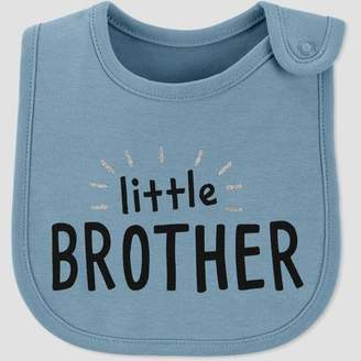 Carter's Just One You made by carter Baby Boys' Family Love 'Little Brother' Bib - Just One You® made by Blue