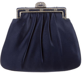 Judith Leiber Satin Ruched Bag $265 thestylecure.com