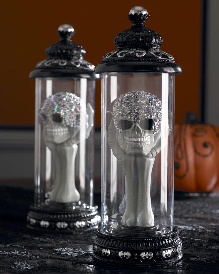 Horchow Skull Halloween Cloche