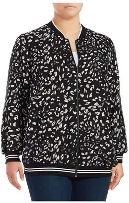 Vince Camuto Women's Patterned Print Jacket - Black, Size 1x (14-16)