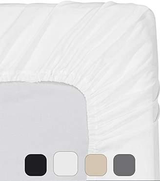 Utopia Bedding Fitted Sheet (Full - White) - Deep Pocket Brushed Velvety Microfiber