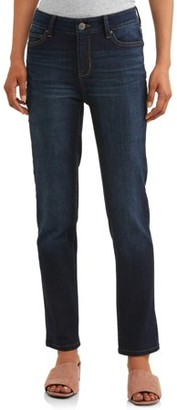 Time and Tru Women's Mid Rise Straight Jean