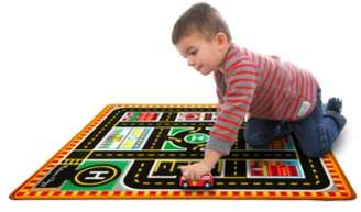 Melissa & Doug 'Round The City' Play Rug & Rescue Vehicles