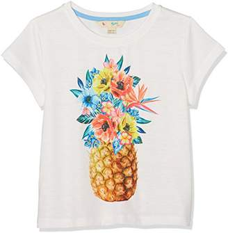 Yumi Girl's Pineapple Floral Placement Tee T-Shirt,11-12 Years