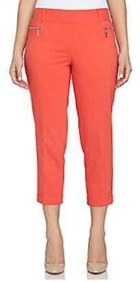 Chaus Women's Zipper Pocket Cuffed Crop Pant