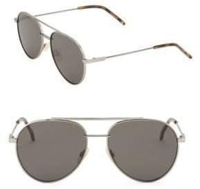 Fendi 55MM Aviator Sunglasses