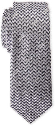 Moschino Black & Grey Silk Houndstooth Tie