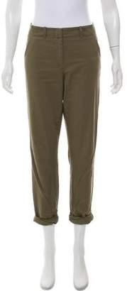 Veronica Beard Mid-Rise Straight-Leg Pants