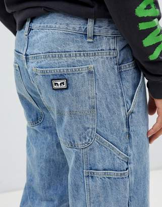 Obey Bender carpenter jeans in light indigo