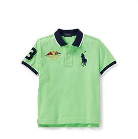 Polo Ralph Lauren Featherweight Cotton Mesh Polo(2-7 Years)