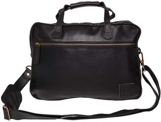 "MAHI Leather - Compact Leather Lightweight Laptop/Work Case/Satchel Bag With 13"" Capacity in Black"