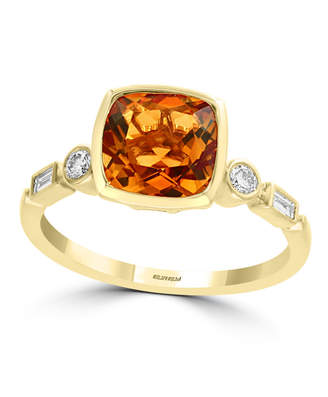 Effy Citrine (1 3/4 ct.t.w.) and Diamond (1/6 ct.t.w.) Ring in 14k Gold