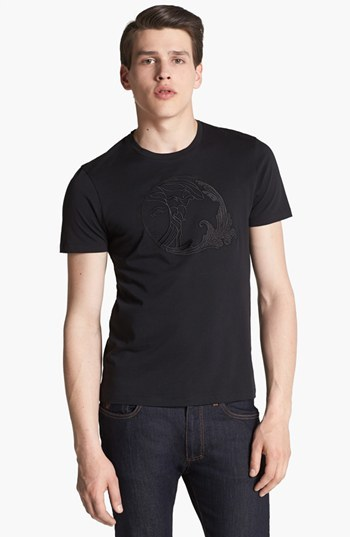 Versace Embroidered Medusa Crewneck T-Shirt