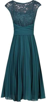 Dorothy Perkins Womens *Jolie Moi Petrol Blue Lace Fit and Flare Dress
