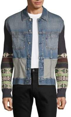 Maison Margiela Mixed-Media Denim Jacket