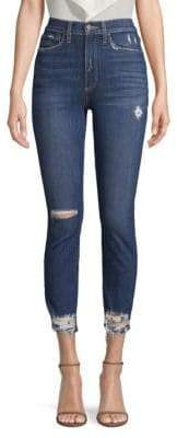 Alice + Olivia AO.LA by Good High-Rise Skinny Distressed Jeans