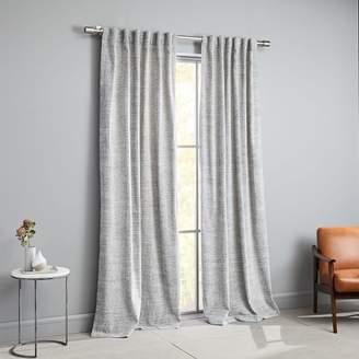 west elm Distressed Textured Velvet Curtain