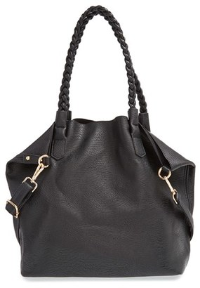 Street Level Slouchy Faux Leather Tote with Pouch $56 thestylecure.com