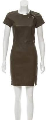 Emilio Pucci Leather Mini Dress
